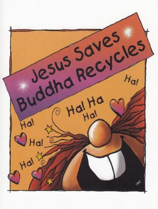 The Great Cosmic Happy-Ass Blank Card - Jesus Saves
